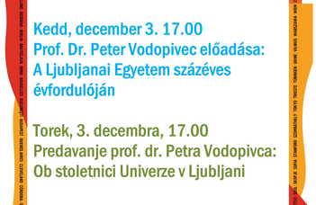 100 éves a Ljubljanai Egyetem